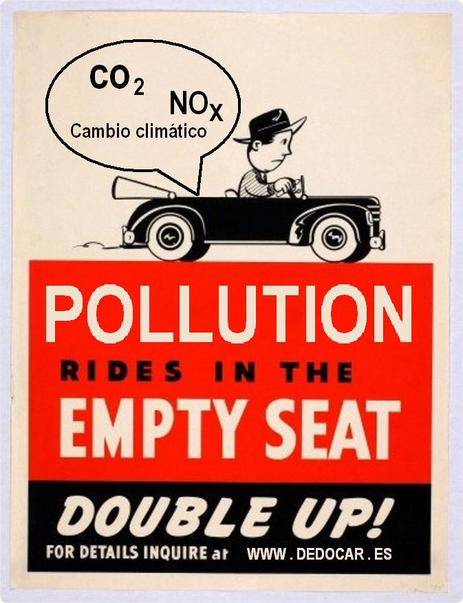Pollution rides in the empty seat