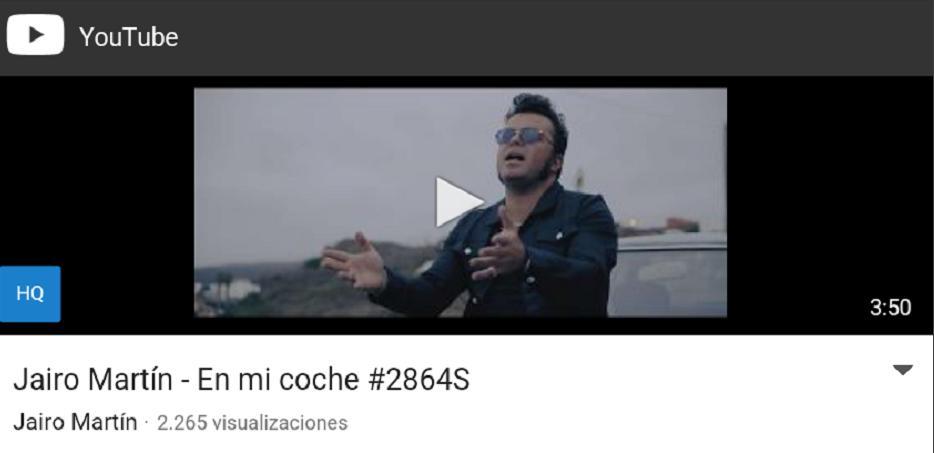 Video Canción En mi coche Jairo Martín YouTube