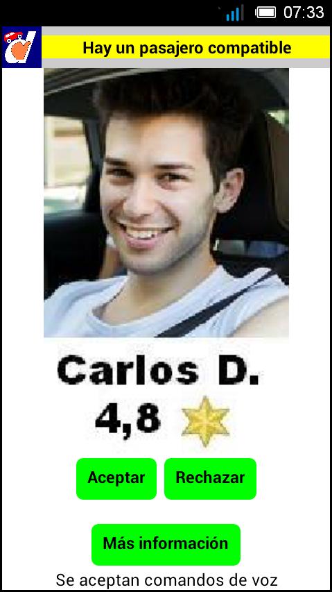 3 Pasajero compatible Carlos