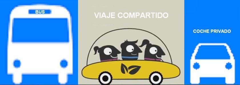 El coche compartido entre el transporte público y el privado