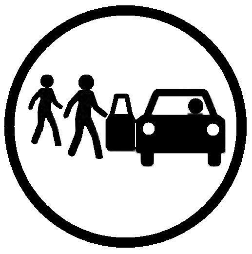 Símbolo compartir viaje en coche