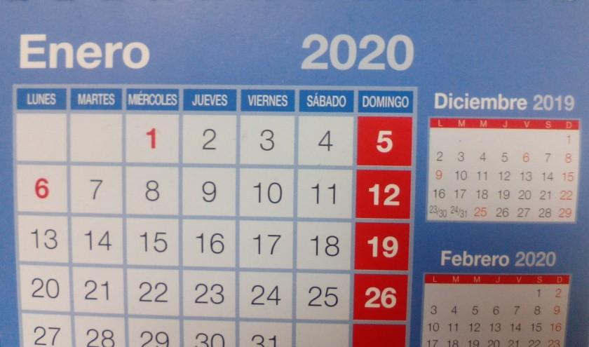 2020 Calendario